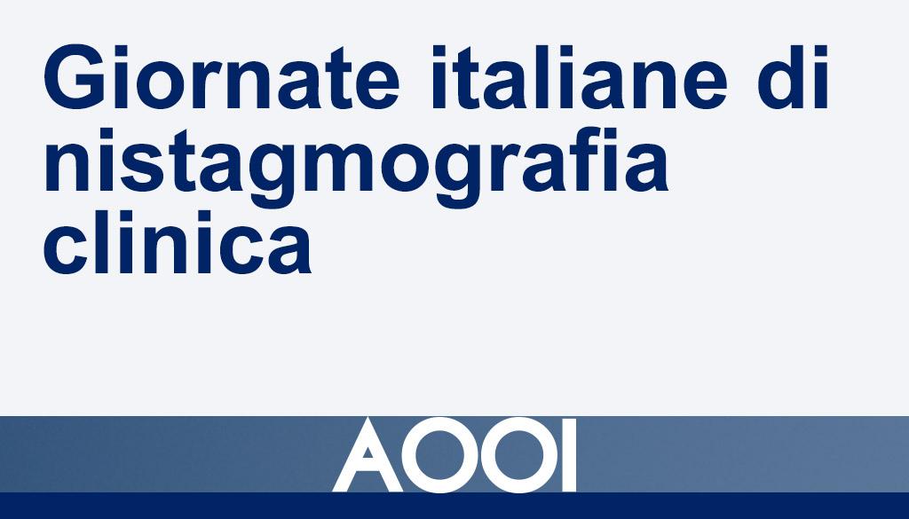 Giornate italiane di nistagmografia clinica