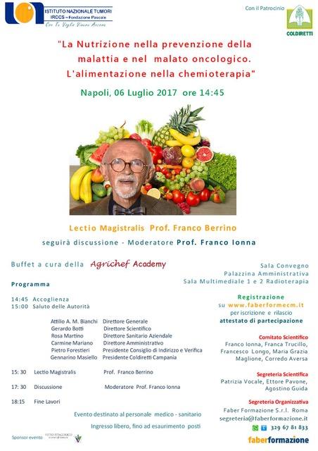 La Nutrizione nella prevenzione della malattia e nel malato oncologico.