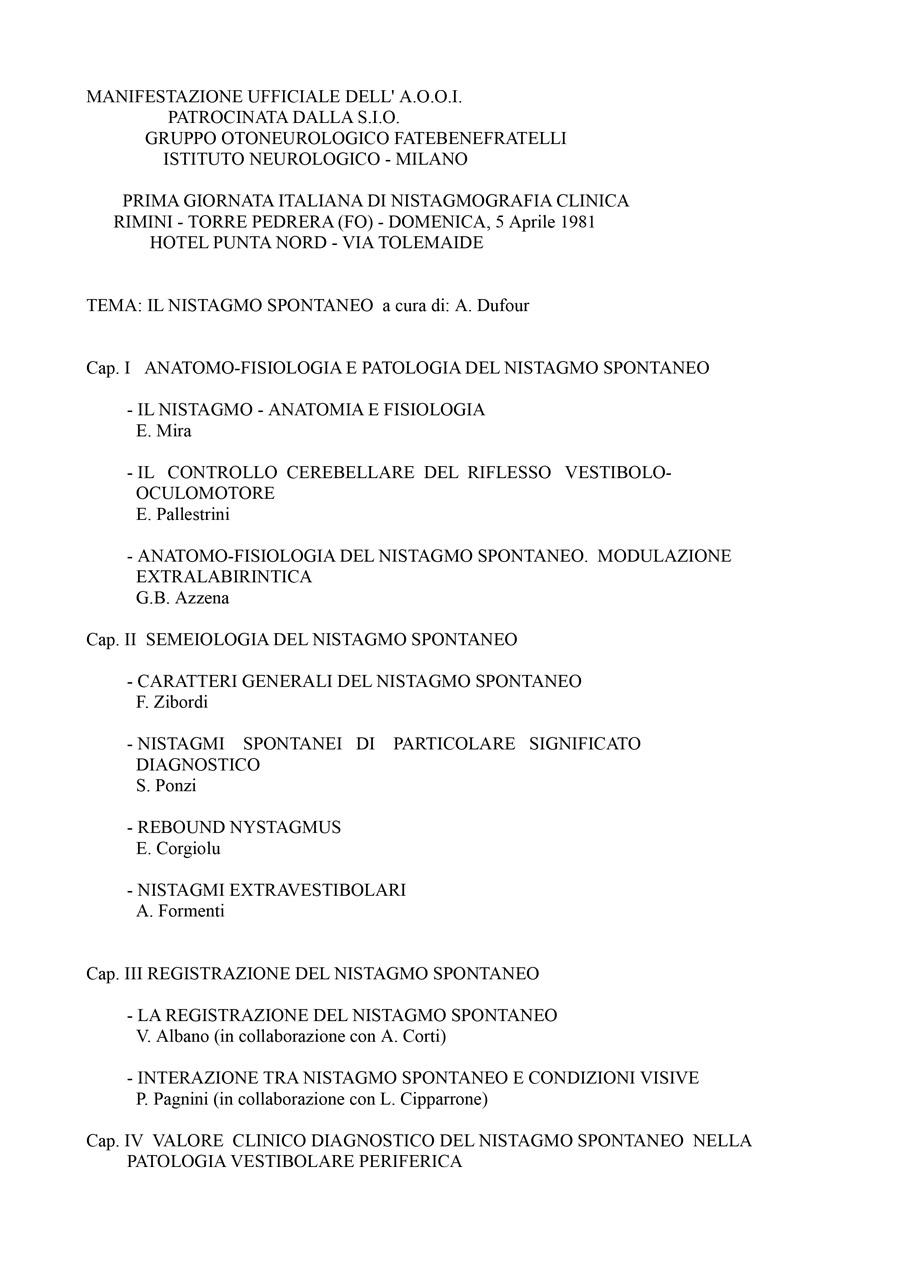 I-Giornata-Italiana-Di-Nistagmografia-Clinica---1981-1