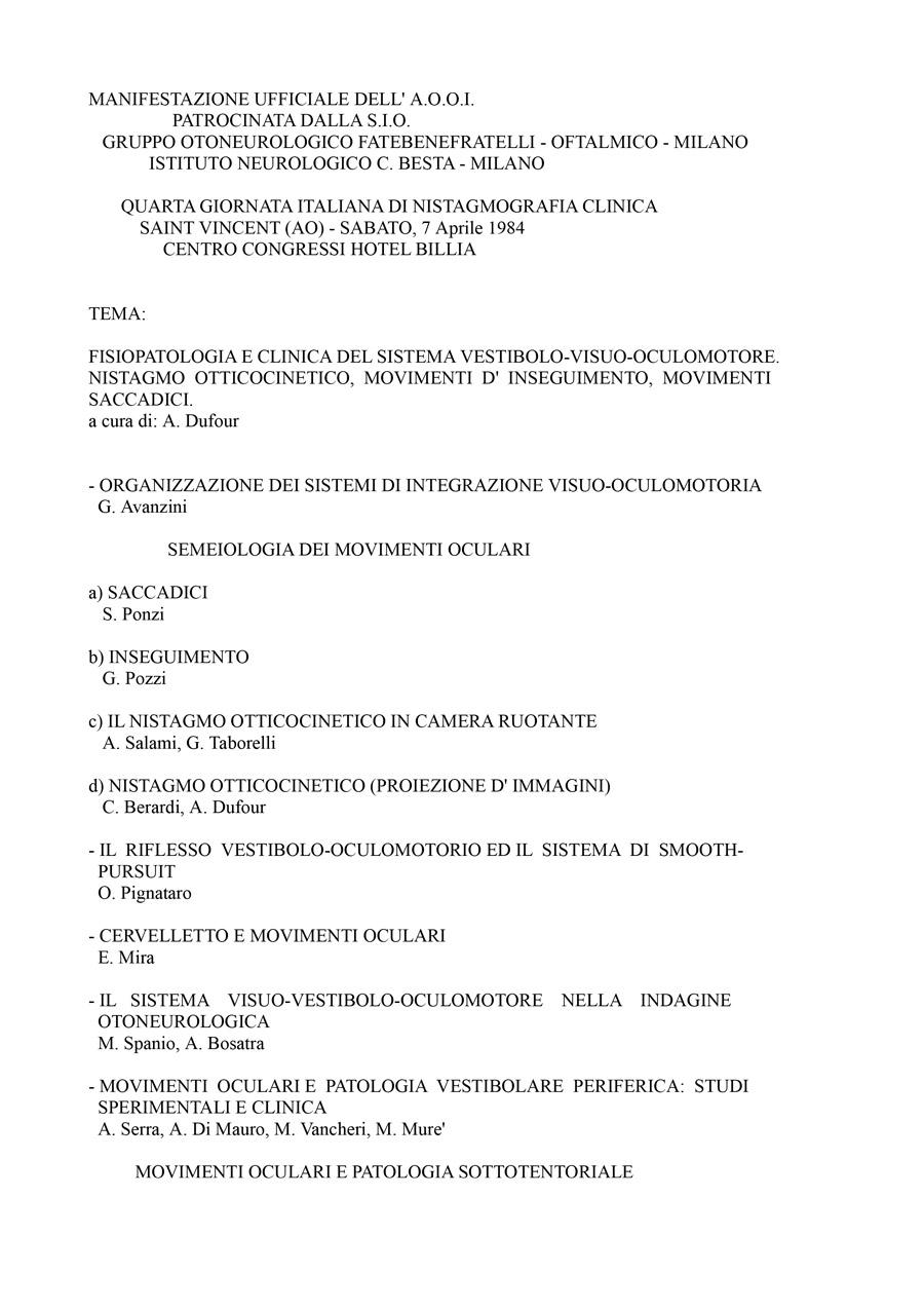 IV-Giornata-Italiana-Di-Nistagmografia-Clinica---1984-1