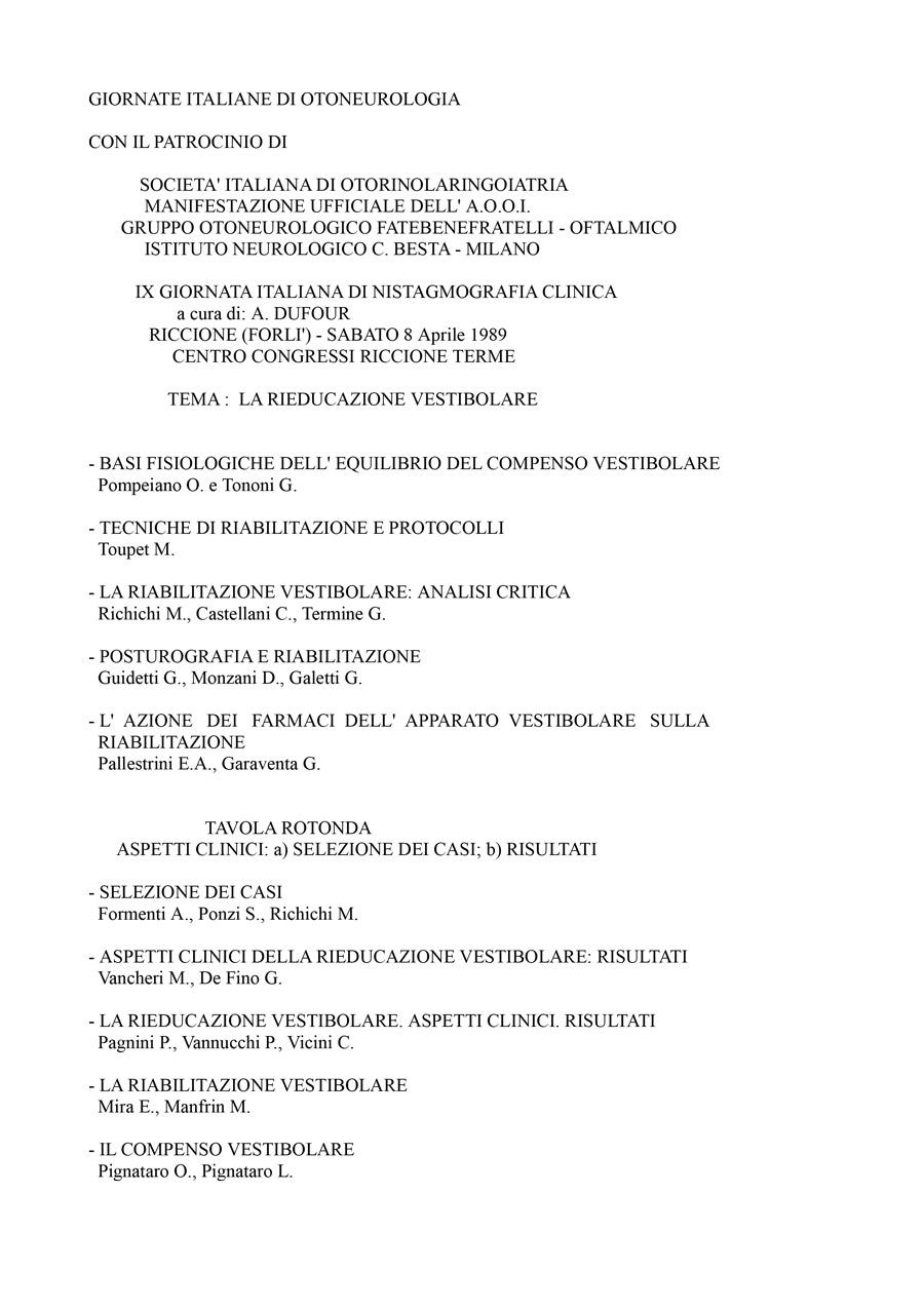IX-Giornata-Italiana-Di-Nistagmografia-Clinica---1989-1