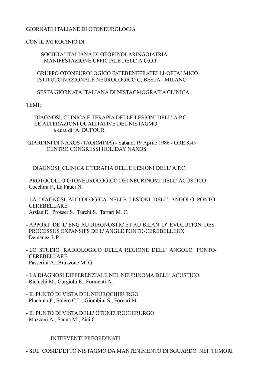 VI-Giornata-Italiana-Di-Nistagmografia-Clinica---1986-1