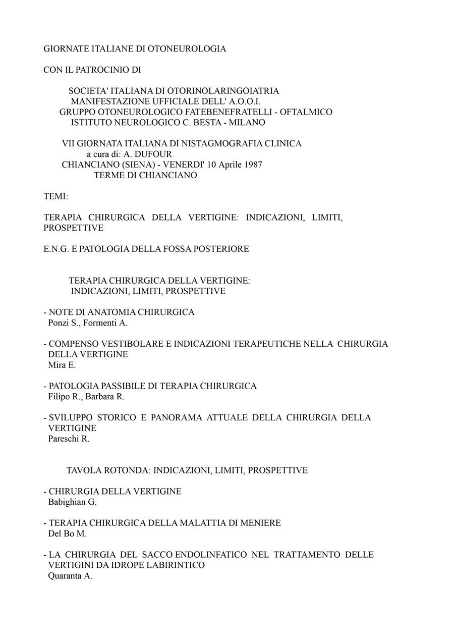 VII-Giornata-Italiana-Di-Nistagmografia-Clinica---1987-1