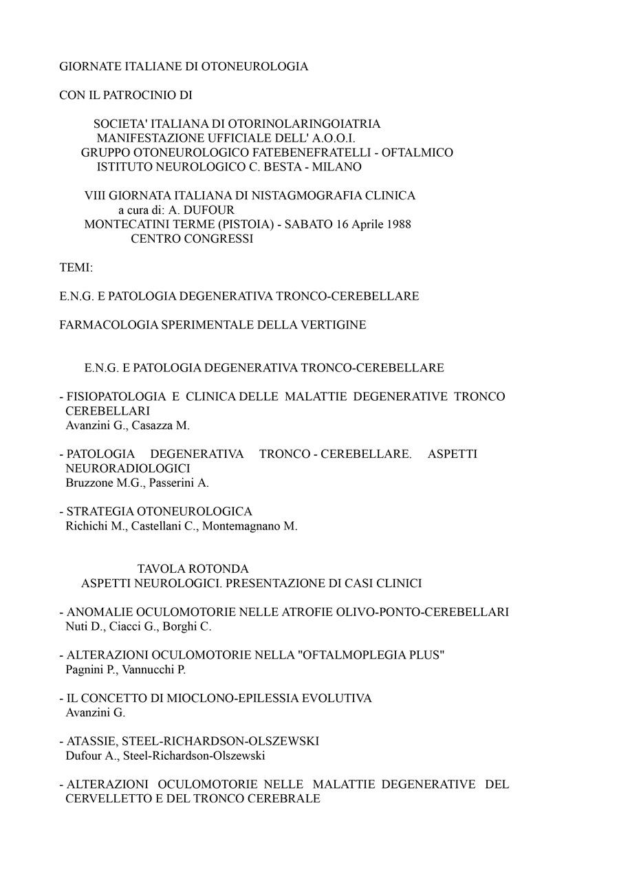 VIII-Giornata-Italiana-Di-Nistagmografia-Clinica---1988-1