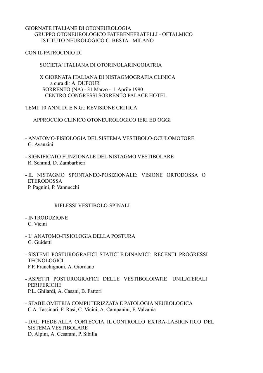 X-Giornata-Italiana-Di-Nistagmografia-Clinica---1990-1